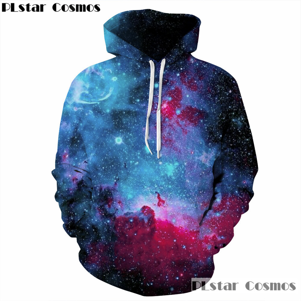 PLstar Cosmos Galaxy Space Hoodies For Women Men Streetwear Brand Clothing Hooded Sweatshirt 3d Print Hoody casual Pullovers