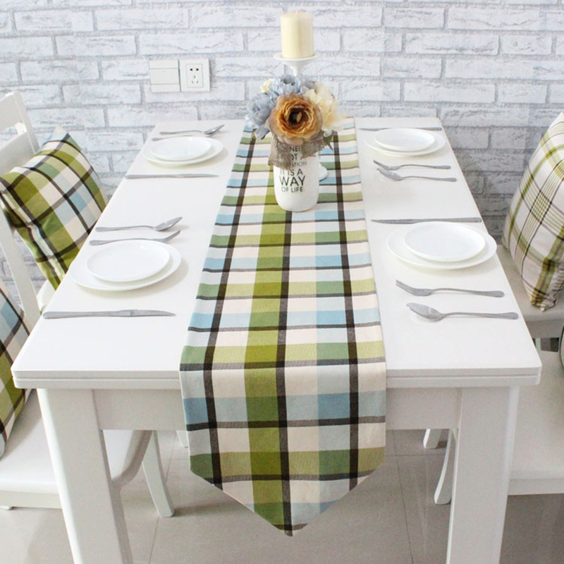 Nordic Simple Modern Thick Cotton Plaid Geometric Dining