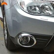 Для Subaru Forester 2009 2010 2011 2012 Chrome глава передняя Foglight КРЫШКА лампы Отделка противотуманных фар абажур кадров аксессуары 2 шт.