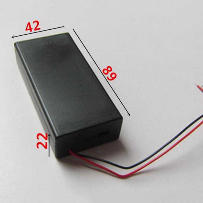 Zerosky 3.7 v 2 × 18650 バッテリーホルダーコネクタ収納ケースボックスのオン/オフスイッチとケーブル