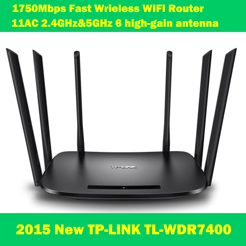 NEW TP-LINK WDR7400 1750Mbps 11AC 6 Antenna Fast wifi extender wireless dual-band router for home computer networking tp link wireless router 802 11ac ac1750 dual band wireless wifi router 2 4g 5 0g vpn wifi repeater tl wdr7400 app routers