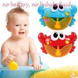 Дети милые забавные Автоматическая мультфильм краб пузырь машина музыка Электрический мыло устройство для мыльных пузырей нагнетателя