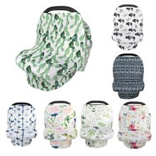 New Mom Nursing Cover Scarf Canopy Breastfeeding Cover Flowel Multifunction Cape Baby Stroller Cover Infant Car Seat Cover цена