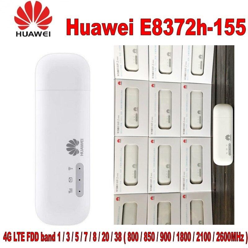 Lot de 10 pièces 100% original Huawei débloqué E8372 Wingle LTE universel 4G USB Modem voiture wifi