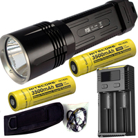 NITECORE P36 CREE MT G2 LED Flashlight 2000Lm Outdoor Camping Hunting Searching Rescue Portable Torch + 18650 battery +charger