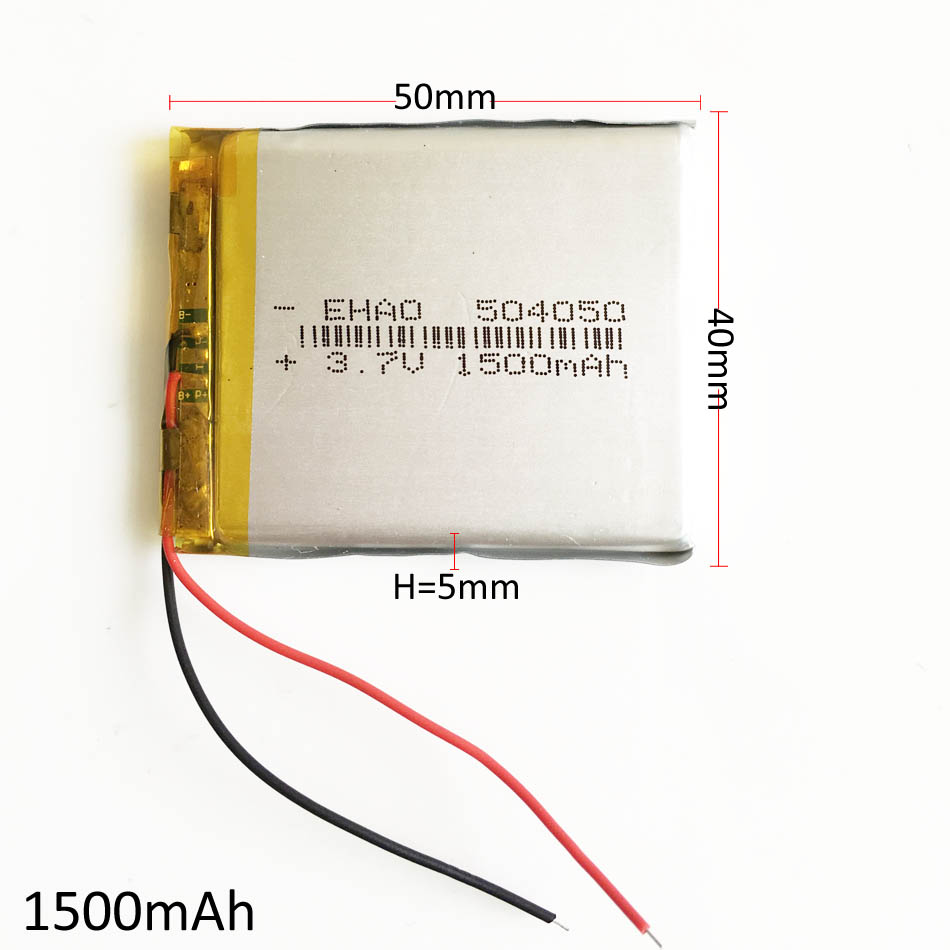 3.7V 1500mAh 504050 Lithium Polymer LiPo Rechargeable Battery Li ion cells For Mp3 DVD PAD mobile tablet pc power bank Camera 3 7v lithium polymer battery 925593 5200mah mobile power tablet pc diy page 6