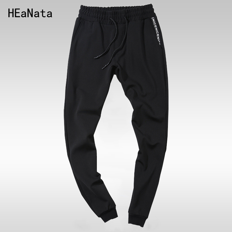Summer Mens Sweatpants New Joggers Pants Elastic Waist Loose Cotton SweatPants For Men Casual Trousers Little Feet Pants 4XL