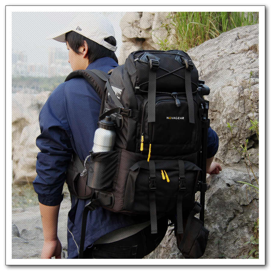 Novagear 80302 foto saco da câmera mochila universal grande capacidade de viagem câmera mochila para canon/nikon câmera digital
