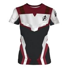2019 Summer New Avenger Alliance 4 Quantum Warfare Clothes 3D Printed Couple Short Sleeve T-shirt Leisure Sports Top