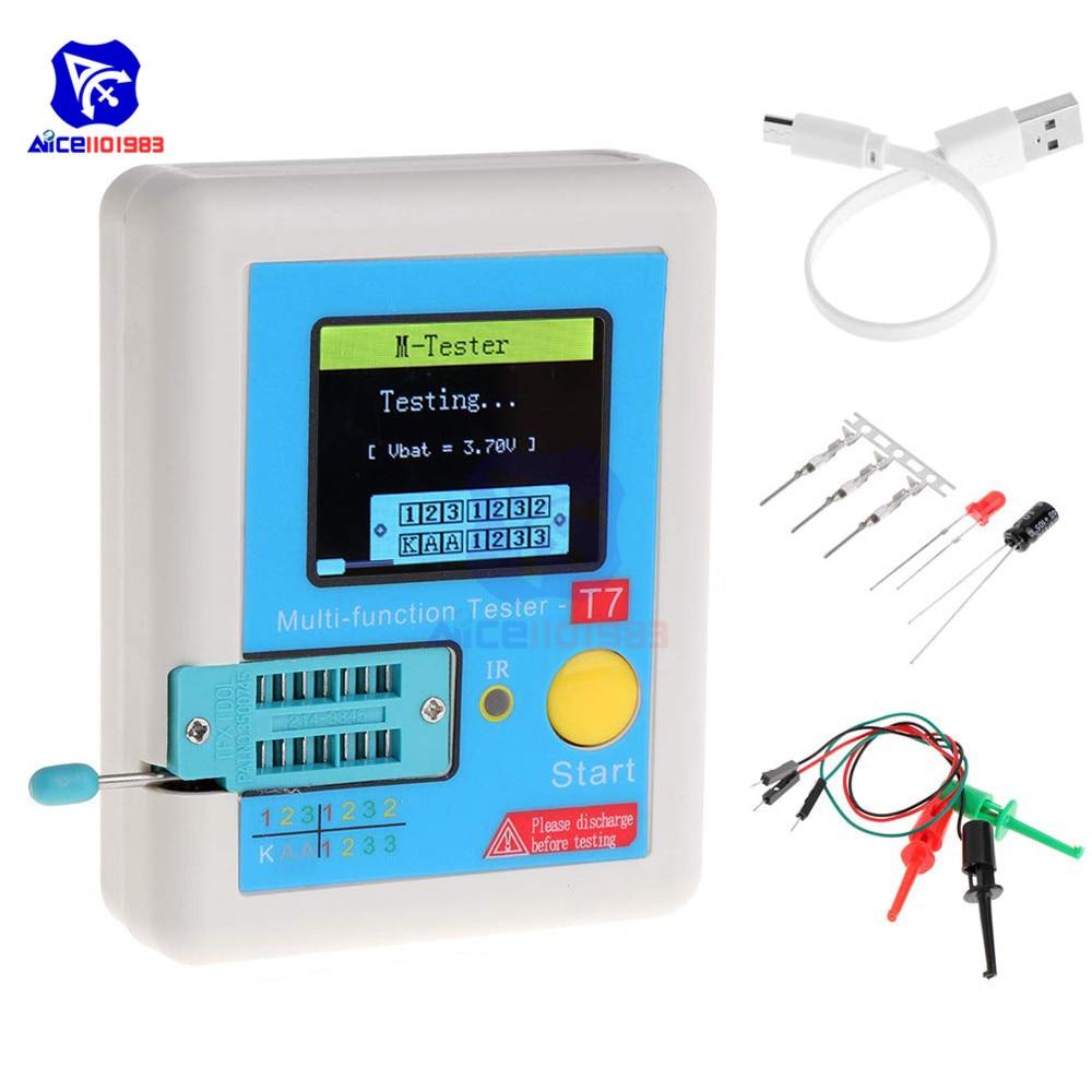 3,5 дюймов (160*128) цветной дисплей Многофункциональный TFT подсветка транзистор LCR-TC7 тестер для диодного триодного конденсатора резистор