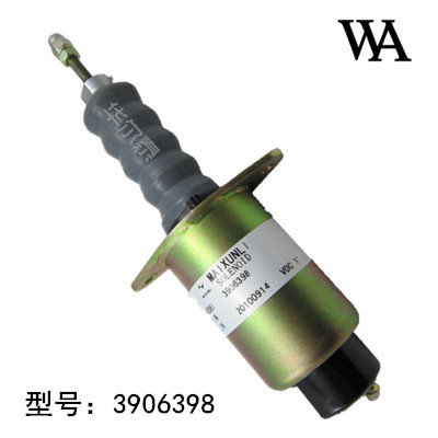 Stop solenoid / solenoid 3906398 DC12V Construction Machinery extinguisher saturn st 7085