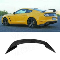 GT style Carbon Fiber Rear Trunk Spoiler Wing For Ford Mustang GT350R Coupe 2 door 2015 2016 2017