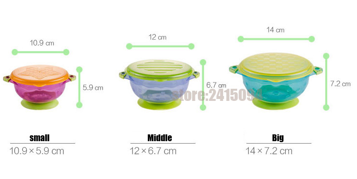 Training Food Stackable Cup Toddler Baby Feeding Bowl Tableware Container