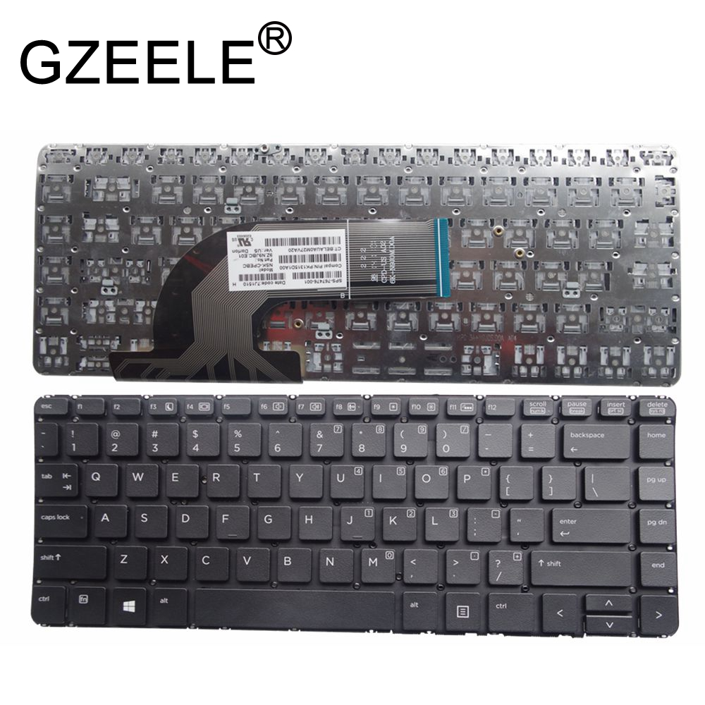 GZEELE US keyboard for HP ProBook 430 G2 440 G0 440 G1 440 G2 445 G1 G2 640 G1 645 without frame|Replacement Keyboards| |  - title=