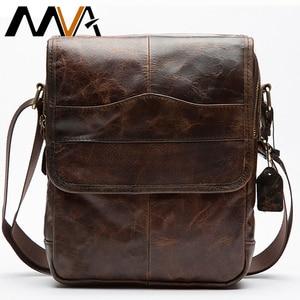 Image 1 - MVA hommes en cuir véritable sac sacs à bandoulière pour hommes sac de messager hommes en cuir de mode hommes sacs à bandoulière hommes sacs à main 1121