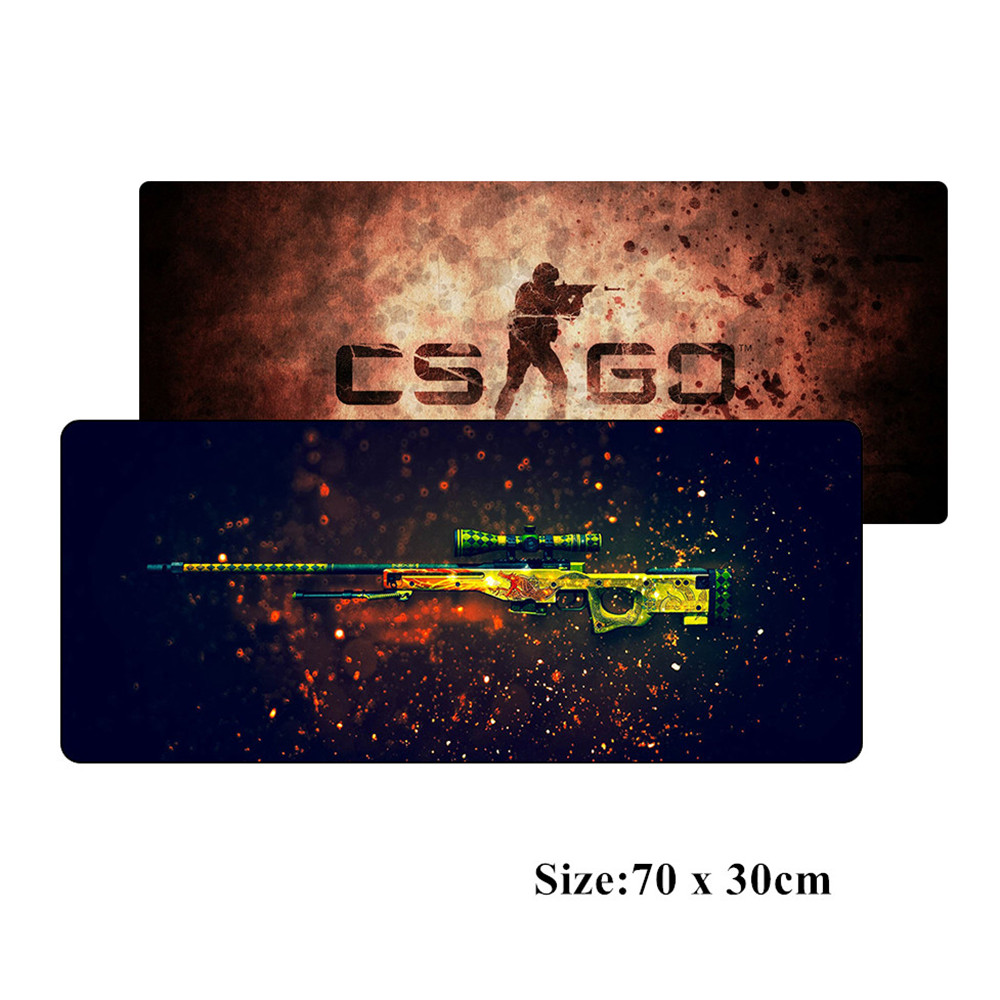 SIANCS CSGO Game Mouse pad 70*30cm XL Large Gaming mousepad gamer Professional mouse mat pad CS GO Gun AWP Dragon lore AK47 M4  slipper