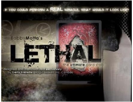Lethal by Bobby Motta -Trick,Accessories,stage magic props,close up/mentalism,comedy light heavy box stage magic floating table close up illusions accessories mentalism magic trick gimmick