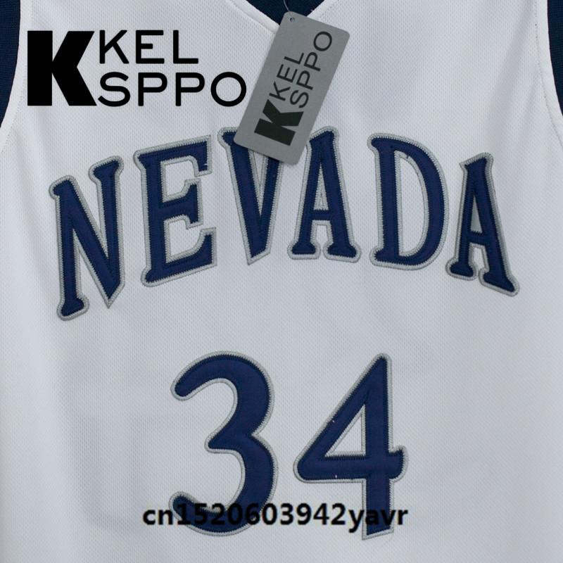 84a13122e Custom Adult Throwback Basketball Jerseys  34 JaVale McGee Nevada  University Embroidered Basketball Jersey Size XXS 6XL-in Basketball Jerseys  from Sports ...