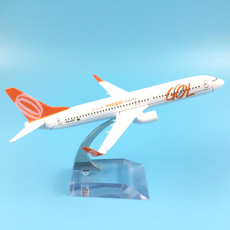 JASON TUTU16cm Plane Model Airplane Model Brazil Air GOL Boeing 737 Aircraft Model Diecast Metal 1:400 Airplanes Model Plane Toy