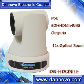 Free Shipping: DANNOVO PoE RJ45 IP Video Conference Room Camera 12x Zoom,SDI+HDMI+RJ45 Outputs, Ceiling/Wall Mount(DN-HDC061E)