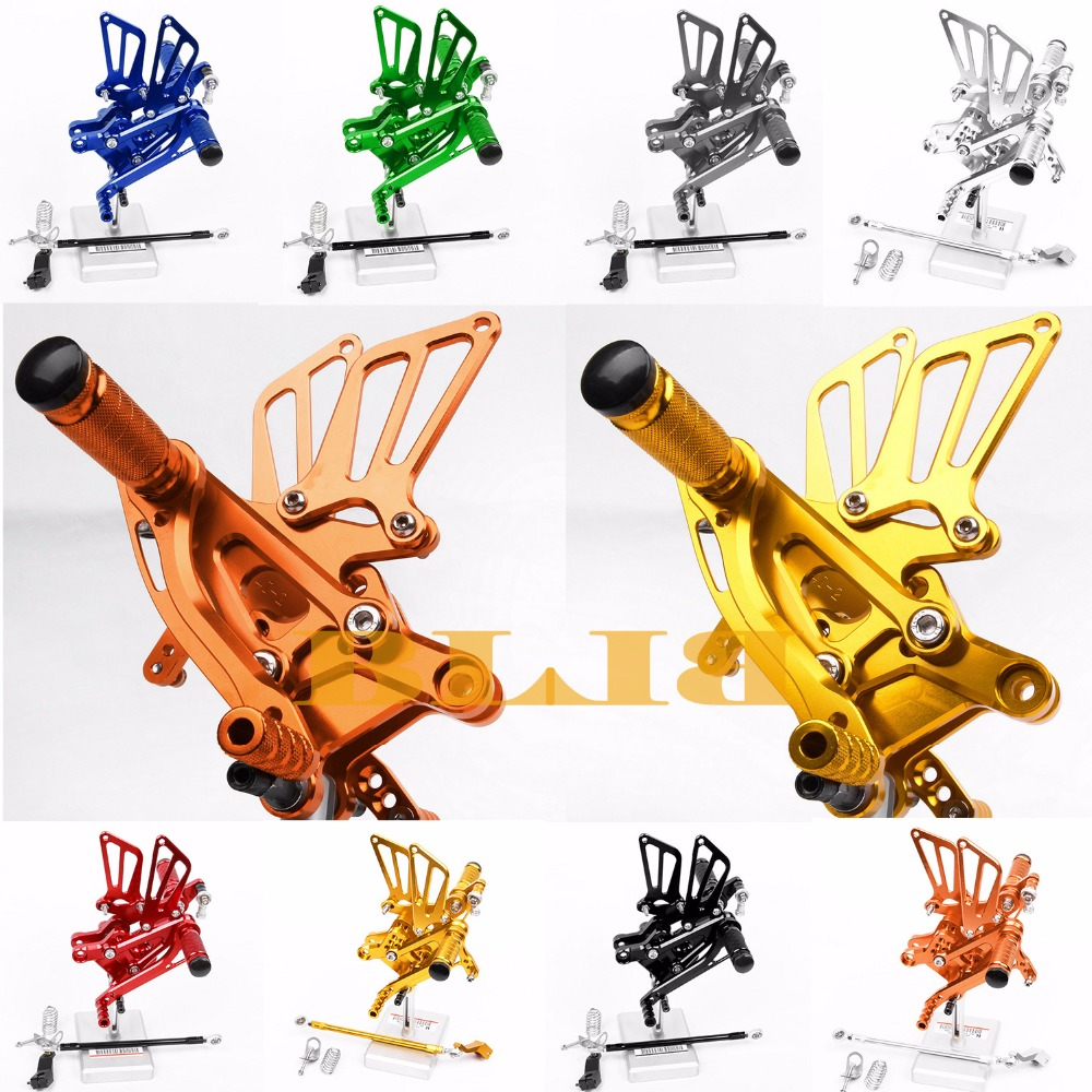 8 Colors CNC Rearsets For Honda CBR600F CBR 600F 1999 - 2004 Rear Set Motorcycle Adjustable Foot Pegs Pedal 2003 2002 2001 2000 kingsun rear adjustable ball joint camber control suspension arm kit for 1990 1997 honda accord acura cl tl1996 1999 blue