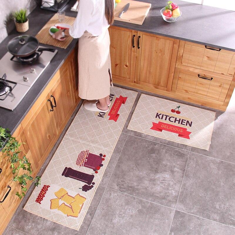50x80 CM + 50x160 CM haute qualité exquis cuisine tapis de sol antidérapant contrôle de l'huile et Absorption d'eau tapis de cuisine