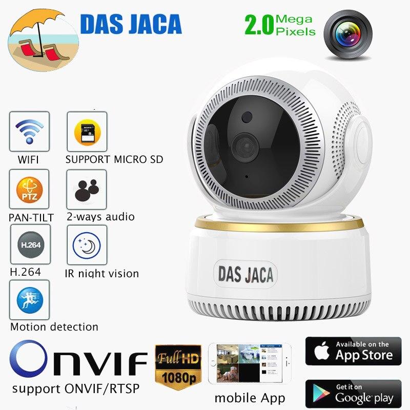 Das Jaca ip camera 2mp wireless ptz dome 1080p surveillance camera wifi baby monitor onvif home cctv security video camera SD lolita jaca мини юбка