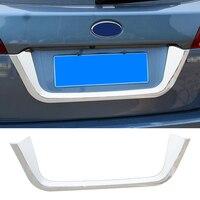 QHCP ABS Eletrocplating Автомобильный багажник заднего окна протектор заднего номерного знака Рамка крышка полосы для Subaru Outback 2015 2019