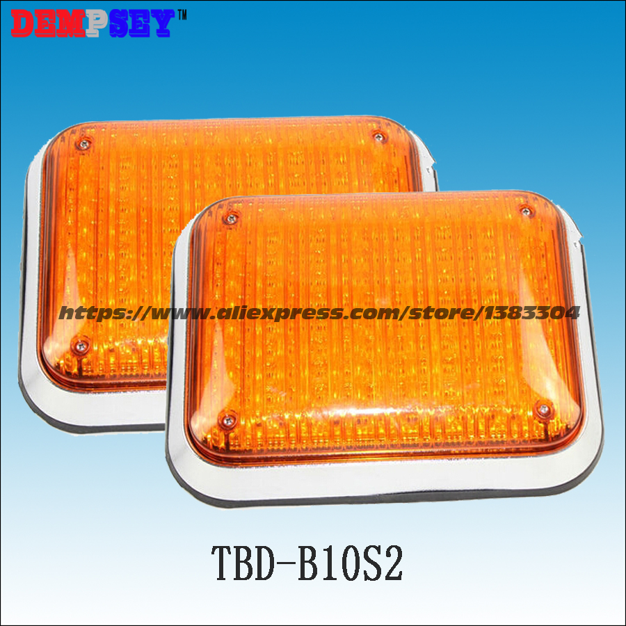 Dempsey Amber Led Square Warning Surface Mount Light/Led Lights Traffic Police motorcycle Light/DC12V Or 24v(TBD-B10S2) a975got tbd b a975got tba ch a975got tbd ch touch pad