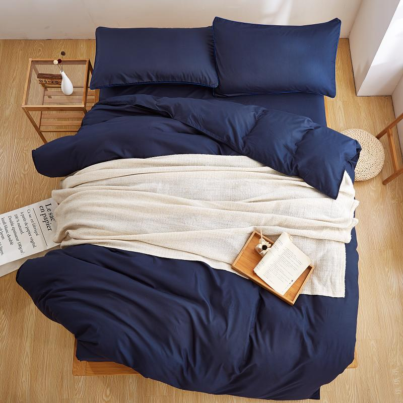waterblue bedding set Solid duvet cover set Microfiber bedclothes grey bed linens AB side bed set Adult 3 or 4pcs flat sheet bed