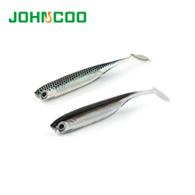JOHNCOO 24pcs Soft Bait Fish Fishing Lure 7cm 2.1g Shad Worm Silicone Bass Minnow Bait Swimbaits Plastic Lure Isca Artificial