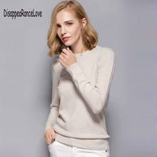 Disappearancelove 2019 Women's Cashmere Elastic Autumn Sweaters and Pullovers Wool Sweater Slim Tight Bottoming Knitted Pullover