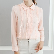 Female Blusas 2019 Spring Autumn Blouse Office Lady Slim Shirts Women Blouses Leisure Long Sleeve Plus Size Tops Casual Shirt sexy snake printed blouse shirt office lady puff sleeve casual shirts female elegant spring autumn blouse tops