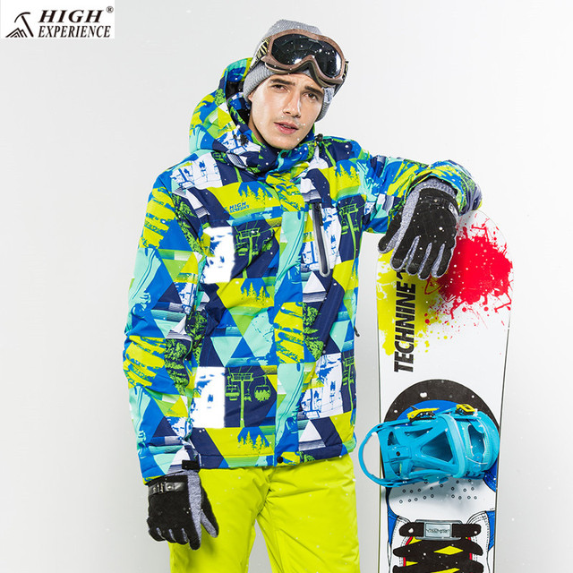 High Experience Ski Jacket Men Brand Snowboard Winter Mountain Skiing  Clothes Mens Snow Jackets Sport Camp Coat Waterproof 6743 cf7456ce6