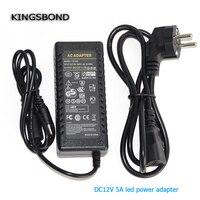 12 v 5A 5000ma alimentation à découpage LED lampe alimentation 12 v alimentation 12v5a puissance adaptateur 60 W livraison gratuite