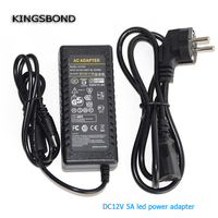 DC12V 5A 60W Power Adatper Power Supply For LED Strip Led Module 1pc Lot Free Shipping