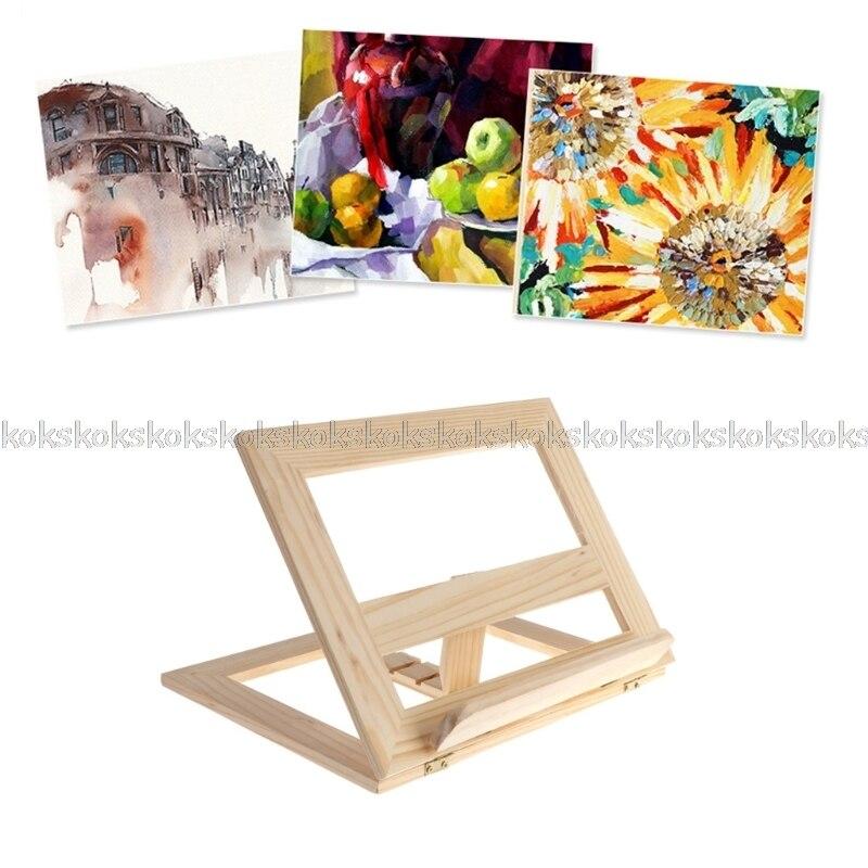 2c289a23c60b New Wooden Pad Easel Adjustable Tablet Document Cookbook Display Stand  Holder JUL26 Dropship