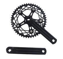 цена на Fixed Gear Bike Crankset 48T CNC   chainwheel accessories  Cranks Single  Speed road Bicycle Crankset