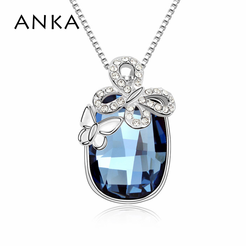 2018 Accessories Top Quality Austrian Crystal butterfly Pendant Jewelry Necklace Crystals from Austria #98558