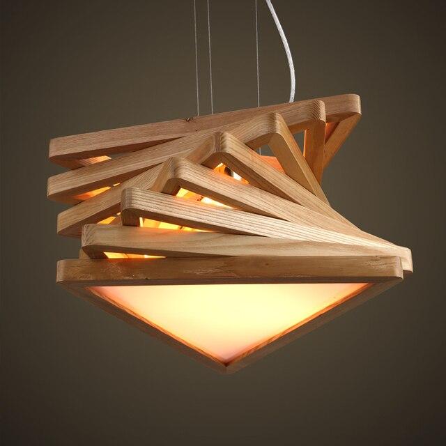 lmpara de la sala de madera maciza moda arte de la lmparas y linternas dormitorio