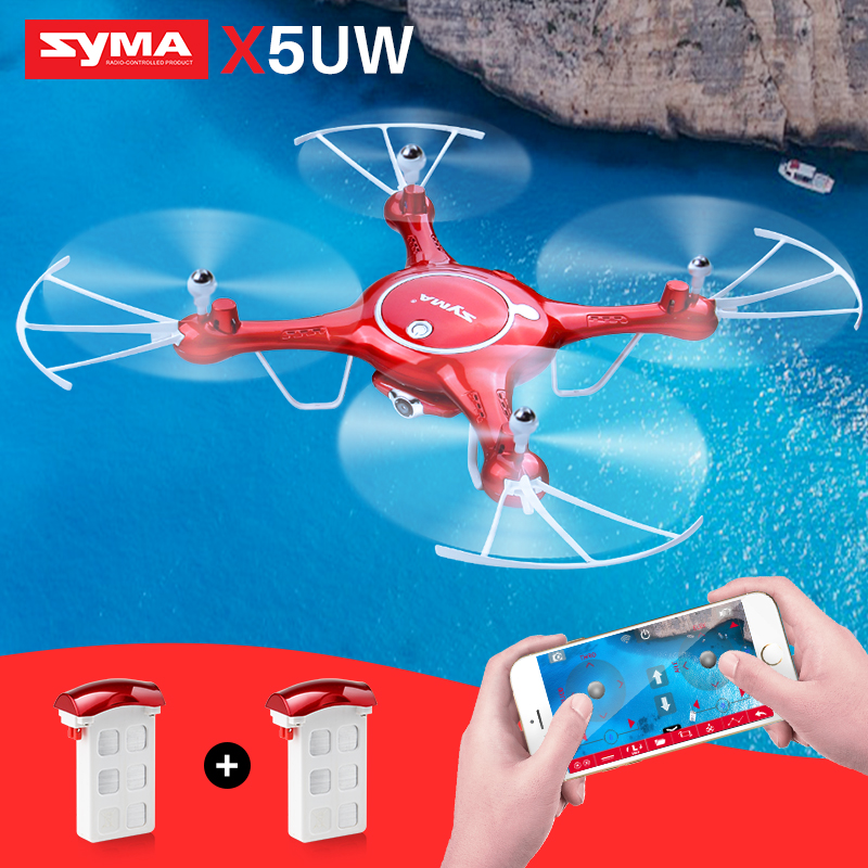 SYMA X5UW Quadrocopter Helicopter Drones Real-time Transmission RC Drone With Camera HD Wifi FPV SmartPhone Control Dron Toys цена
