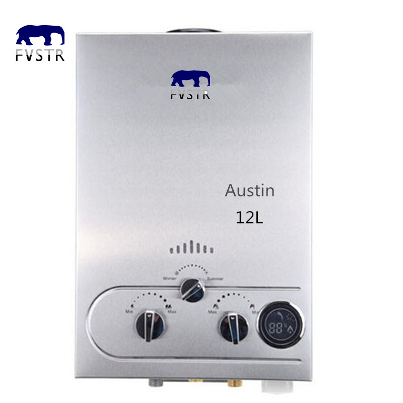 LOCAL SHIP 2019 Special Gs Cb Offer Wall Mounted Shower 12L Lpg Propane Gas Hot Water Heater Tankless Stainless Lcd