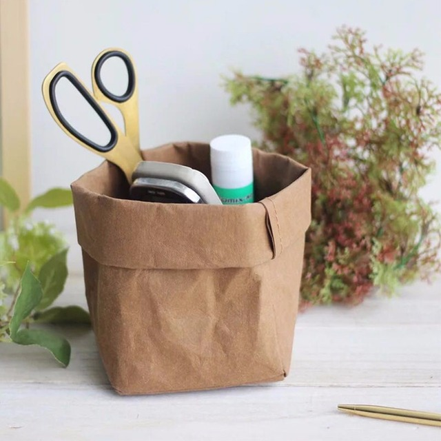 Kraft Paper Storage Bag Washable Plants Flowers Vegetable Grow Bags Baby Toy Organizer Gift Bread Storage & Kraft Paper Storage Bag Washable Plants Flowers Vegetable Grow Bags ...