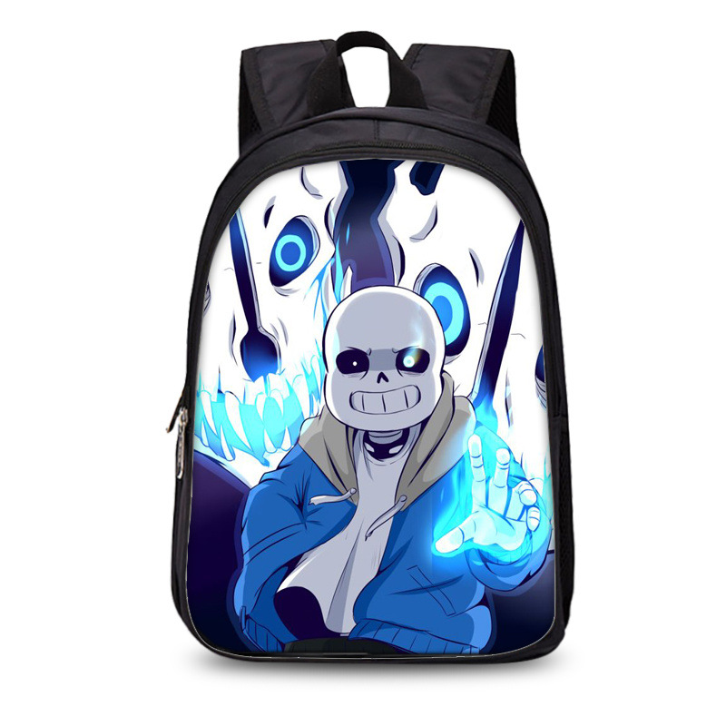 Hot Sale Polyester Black Printing Cartoon Undertale Backpack For Boys Schoolbag Kids School Bags For Children Book Bag MochilaS