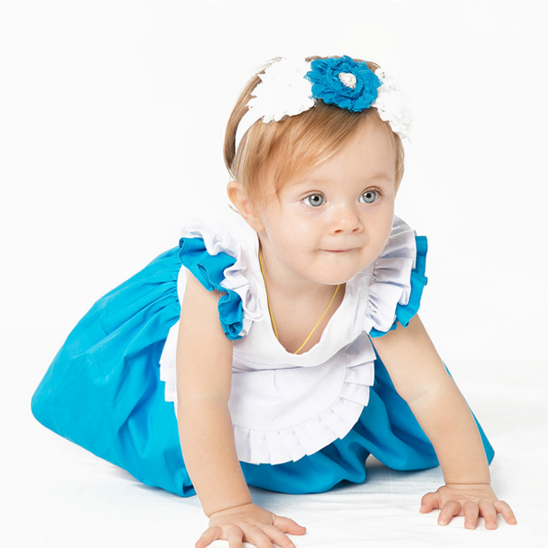 YK & Loving Hoge Kwaliteit Alice Jurk Kostuum Meisje Jurk Nieuwe Mode - Kinderkleding