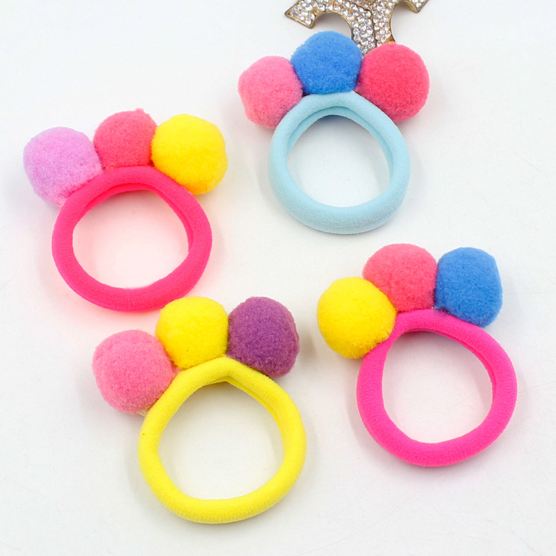 AIKELINA Fashion Cute 3 Balls Elastics Hair Holders Bands Gum Fashion Kids Candy Rubber Bands   Headwear   Girl Hair Accessories