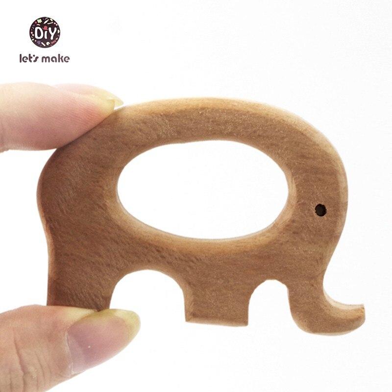 UnermüDlich Lassen Sie Machen 10 Stücke Buche Holz Elefanten Anhänger Baby Holz Beißring Ring Holz Spielzeug Hand Cut Diy Zubehör Charme üBerlegene Leistung