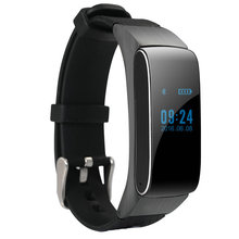 The new simple business intelligence Bluetooth headset meter step font b watch b font touch LED