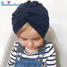 5282fe996d3 Bnaturalwell Baby Top Knot Turban hat Little girls Headwrap Soft cotton  Turban vintage style retro baby