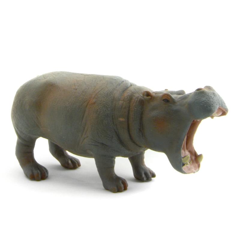 Starz PVC Animals World Hippos Hippopotamus Static Model Plastic Action Figures Toys Gift for Kids футболка il gufo il gufo il003ebrho87